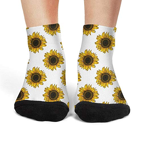 Botanical floral wild meadow sunflower Women's Christmas Stocks Ultra Soft Sport