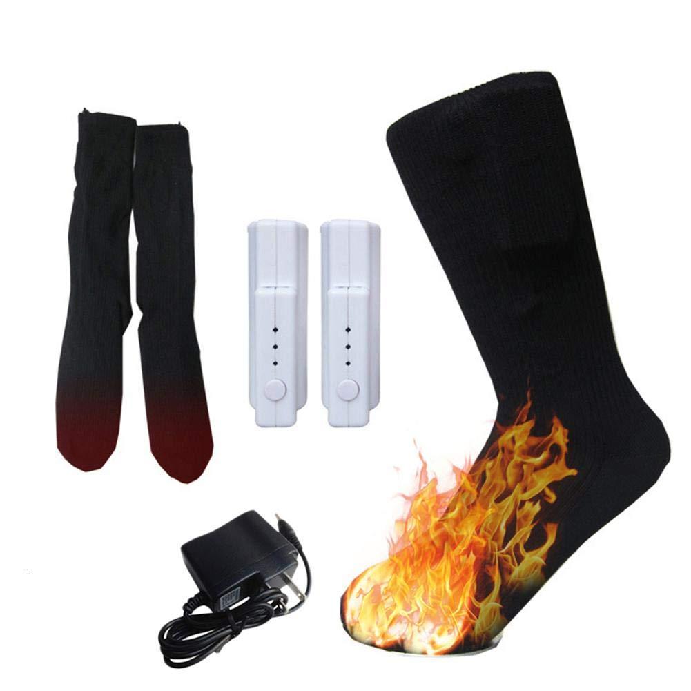 Calentadores de pies de Invierno Calcetines térmicos, Temperatura eléctrica Controlable Calentadores térmicos Batería de Litio Recargable para Adultos ...