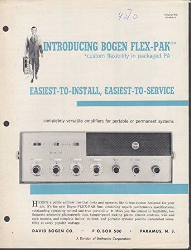 Bogen Flex-Pak PA System sales folder 1950s amplifier