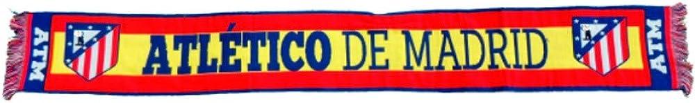 ATLETICO DE MADRID BUFANDA OFICIAL BANDERA ESPAÑA: Amazon.es: Ropa y accesorios