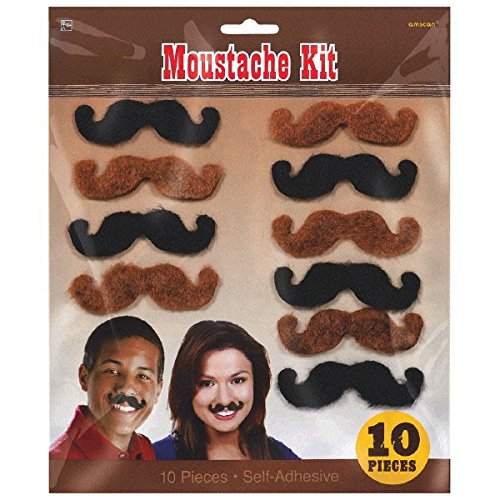 Western Dress Up - High Riding Western Party Western Mustaches Accessory, Fabric, 3