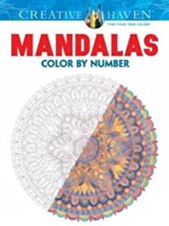 creative haven mandalas color by number coloring book adult coloring