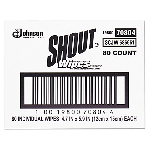 Shout Instant Stain Remover Towelette Wipes (80 count) by Shout