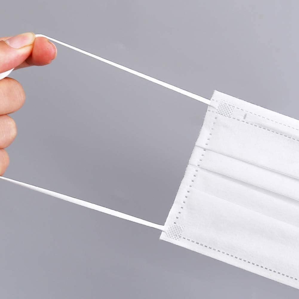 Elastic Cord String Strap for Swing White Earloop Round Tie Rope Ears Holder for Handmade DIY 1//8 Inch 3mm Width