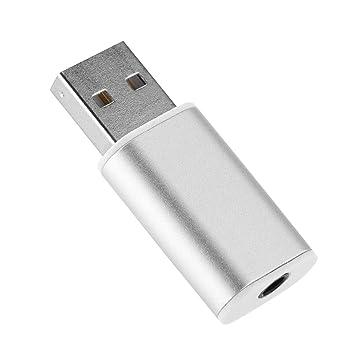 Richer-R Mini Tarjeta de Sonido USB,3.5 mm Tarjeta de Audio USB 2.0 Externa,Adaptador de Tarjata de Sonido para ...