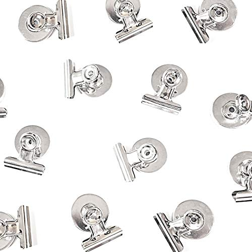 [Upgraded] 12 Strong Scratch-Free Refrigerator Magnet Clips for Organizing, Decorating & All of Life's Needs! - Bonus Magnetic Notepad - Best Value Set -