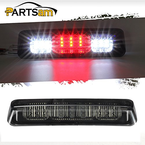 Partsam Replacement for 2004-2008 Ford F-150 F150 Red/White 21 LED Smoke Lens Black Housing Tail Rear High Mount 3rd Third Brake Light Cargo Lamp Waterproof ()