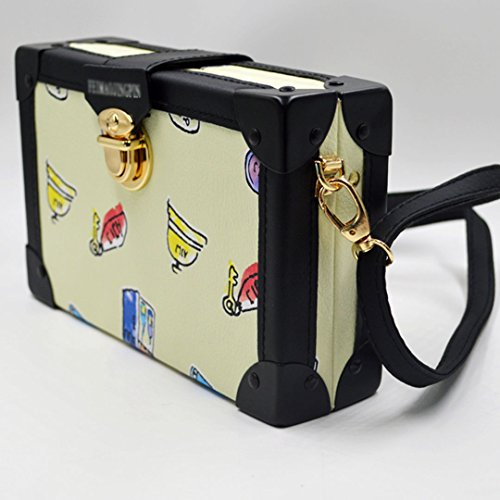 Pattern Box Ladies Envelop Bag Square Shoulder Cartoon Yellow Messenger Mini Millya Flap Printed EqxvdzT