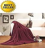 Celine Linen® #1 Fleece Blanket on Amazon – Super Soft – SALE – All Season Super Plush Luxury FLEECE BLANKET, KING/CAL KING Burgundy