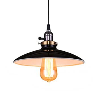 Lightess E27 Retro Vintage Klassiker Industrial Metal Deckenleuchte ...