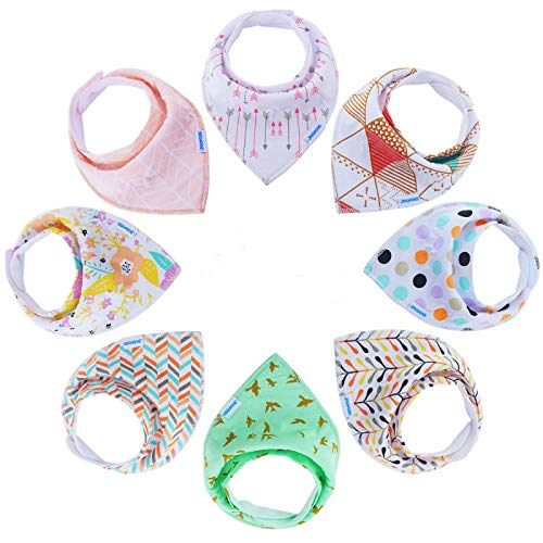 Baby Bibs Bandana Bibs for Boys and Girls, Drool Bibs for Toddler Teething 8 Pack by YOOFOSS