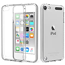 iPod Touch 6 Case, iPod Touch 5 Case, MoKo Shock Absorbing TPU Bumper Ultra Slim Clear Protective Case with Anti-Scratch Hard Back Cover for Apple iPod Touch 6th / 5th Generation - Crystal Clear