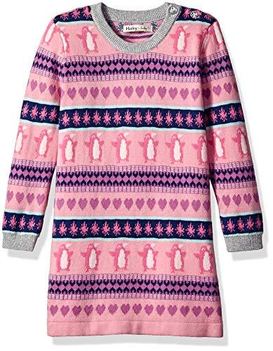 Hatley Girls' Toddler Sweater Dress, fair isle Penguin, 4 - Fair Sweater Dress Isle