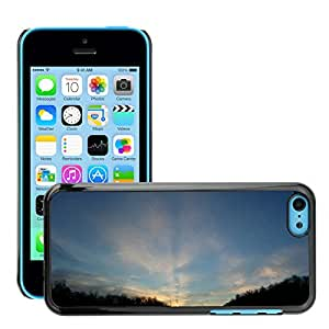 Hot Style Cell Phone PC Hard Case Cover // M00307590 Sky Blue Dawn Nature High Light // Apple iPhone 5C