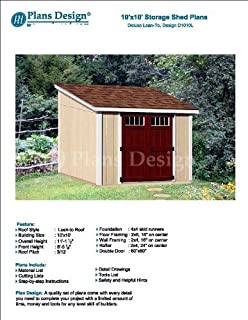 6 X 16 Deluxe Storage Shed Plans Building Blueprints Modern