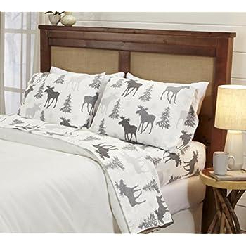 Amazon.com: Glacier Mountain Bedding 4 Piece Cotton