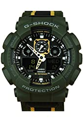 Casio G-Shock GA-100MC Military Cloth - Olive Maize (GA-100MC-3ADR)