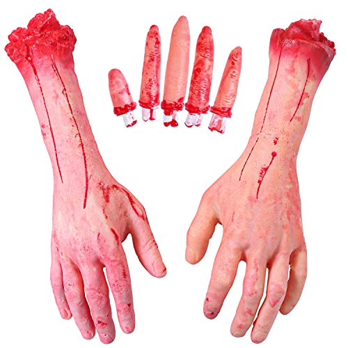 Bloody Body - Elcoho 1 Pair Halloween Severed Hands