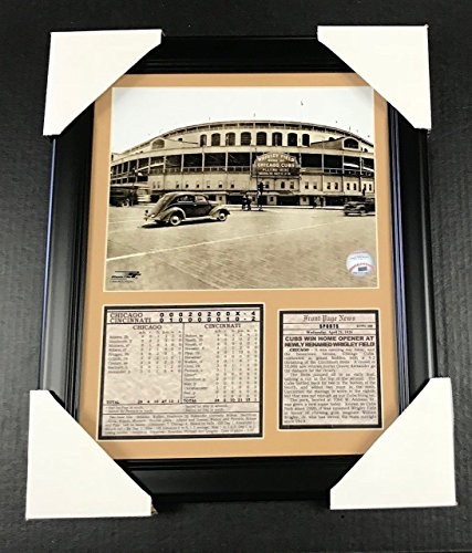 Field Framed Photomint - 11x14 Framed & Matted Wrigley Field Chicago Cubs Opening Day 1926 8X10 PHOTO