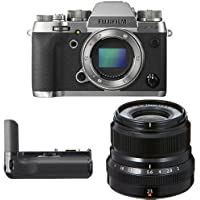 Fujifilm X-T2 Mirrorless Digital Camera (Graphite) w/ XF23mm F2 Black Lens & Vertical Power Booster