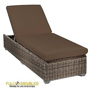 All Weather–ratán–Chaise Lounge–Atlántico por boutdoors Patio sofá de mimbre al aire libre muebles