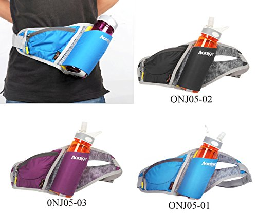 WATERFLY Fashion Durable Lightweight Multifunction Nylon Outdoor Waist Fanny Pack with Water Bottle Holder Riding Climbing Sport Bag Hiking Bag Pack Cover