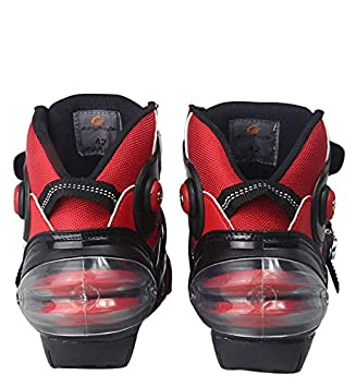 Yiwa BOOTS Motorcycle,Biker Speed Motocross Boots,Non-slip Motorcycle Shoes,Men Soft Waterproof white 9