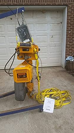 Harrington 5 ton electric chain hoist with motor driven for 2 ton hoist with motorized trolley