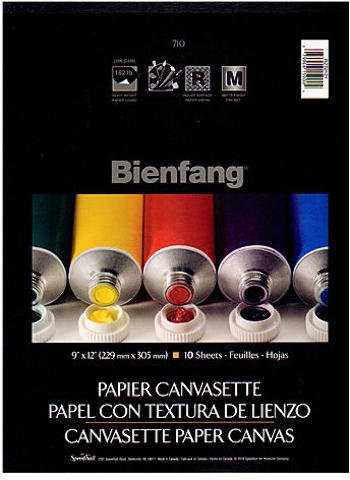 Bienfang Canvas (Bienfang Canvasette Paper Canvas (9 In. x 12 In.) 2 pcs sku# 1828746MA)