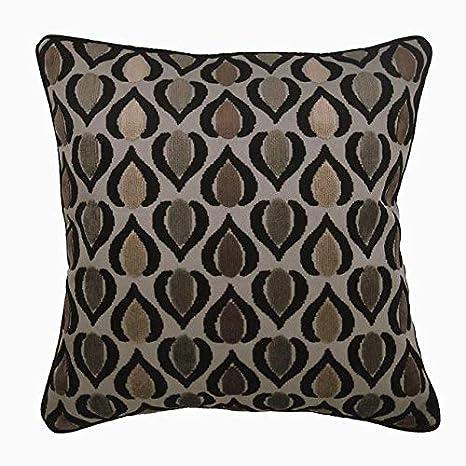 Funda de Almohada Decorativa marrón Abstarct Cuadrado 3D ...