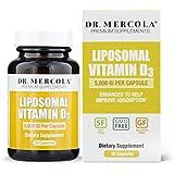 Dr. Mercola Liposomal Vitamin D 5000 IU Supplement - 30 Capsules- Essential for Heart Health and Joint Health – Natural Licap Vitamin D3 Capsules