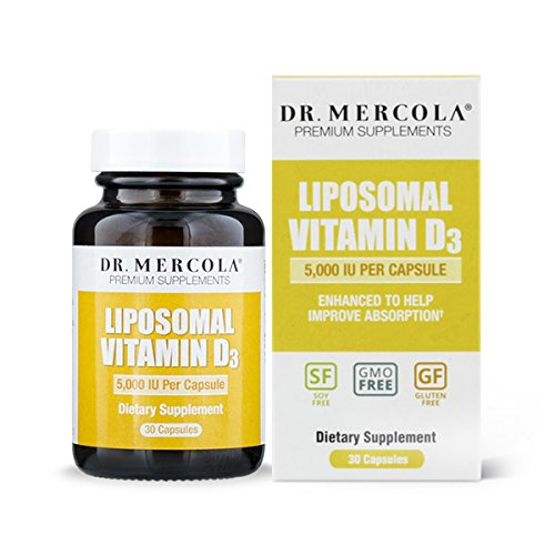 Dr. Mercola Liposomal Vitamin D 5000 IU Supplement - 30 Capsules- Essential for Heart Health and Joint Health – Natural Licap Vitamin D3 Capsules