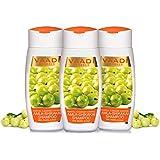 Vaadi Herbals Organic Amla Shikakai Reetha Shampoo ANTI DANDRUFF SHAMPOO Sulphate Free 3x110ml