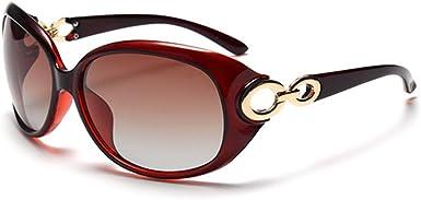 BLDEN Gafas de Sol Mujer Polarizadas, Anti-Reflejo 100% UV Ojos Proteccion Estiloso Ovaladas Gafas Marco Grande