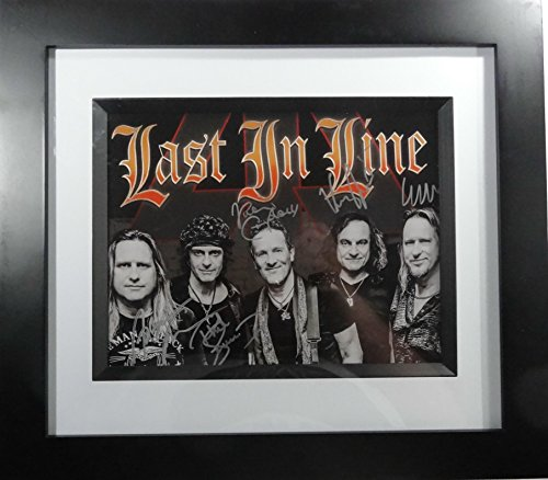 Framed Autographed Display (Signed Last In Line Autographed Framed Matted Photo Display Dio Def Leppard)