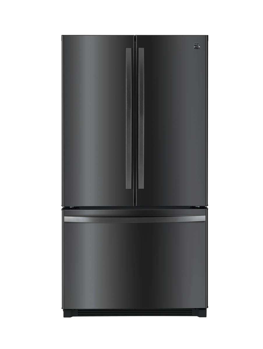 Kenmore 4674077 French Refrigerator with Preview Grab-N-Go Door, 29.6 cu. ft, Black Stainless Steel Sears Brands Management Corporation (Kenmore)
