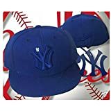 New York Yankees LITTLE BROTHER Fitted Size 7 1/4 Navy Blue Logo Hat Cap - Cooperstown Collection