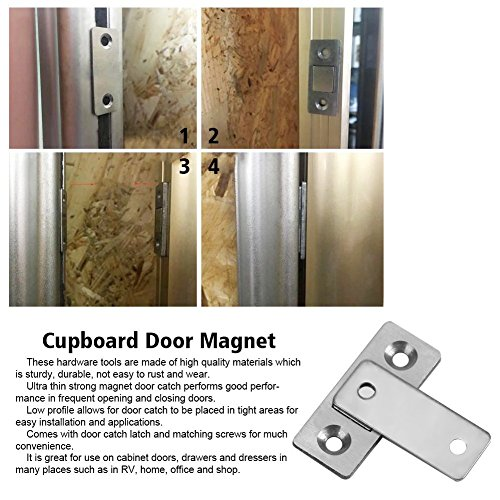 Door Catch Latch Ultra Thin Strong Magnetic Catch with Screws for Home  Furniture Cabinet Cupboard - Verified Lab Test Supports has a Pull of 2kg -
