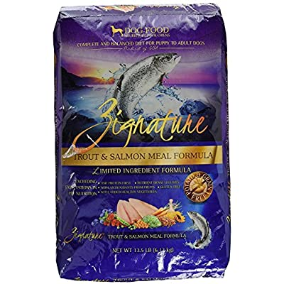 Zignature Trout and Salmon Dry Dog Food, 13.5 lb. Bag. Fast Delivery, by Just Jak's Pet Market