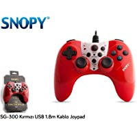 Snopy SG-300 Kırmızı USB 1.8m Kablo Joypad