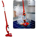 Mediashopping H2O Plus Upright steam cleaner 1300W Red - steam cleaners (Upright steam cleaner, Red, 50/60 Hz)