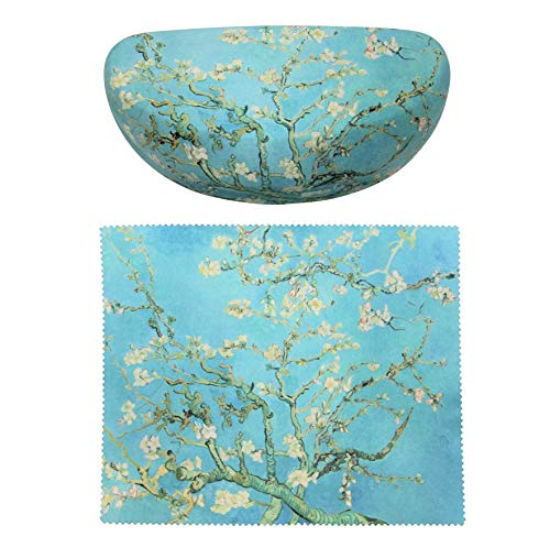 Vincent Van Gogh Almond Blossoms Painting Art Premium Large Sunglass Case Matching Almond Blossoms Microfiber Cleaning Cloth
