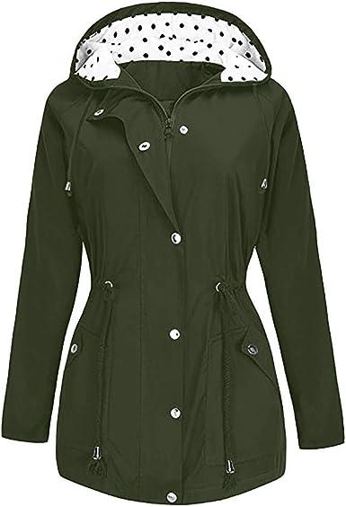 Manteau Imperméable Femme Grande Taille à Capuche Manche