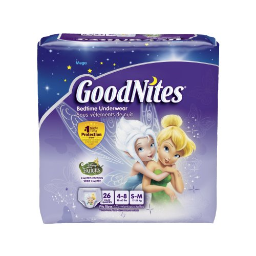 GoodNites Girls Underwear Small/Medium, Girl, 26 Count (Pack of 3), Packaging May Vary (Goodnites Underpants Girls Diapers)