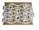 Clear Austrian Crystal Lattice Latch Clasp Bracelet