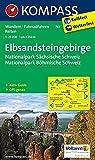 Elbsandsteingebirge - Nationalpark Sächsische Schweiz - Nationalpark Böhmische Schweiz: Wanderkarte mit Aktiv Guide, Radrouten und Reitwegen. GPS-genau. 1:25000 (KOMPASS-Wanderkarten, Band 761)