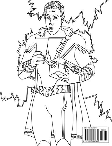 Shazam Coloring Book Jumbo Coloring Book Dc Comics Superhero Film 2019 Coloring Book Unofficial With Premium Images By Chen Alan Amazon Ae