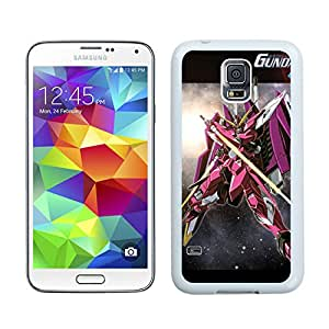 Fashionable and DIY Case Gundam 11 White Phone Case for Galaxy S5 I9600