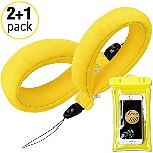 Waterproof Camera Float Strap - (2 Pack) with Waterproof Phone Case -  Universal Floating Wristband/Strap Works with GoPro, Nikon, Canon,