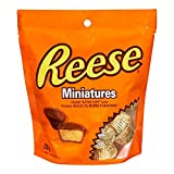 REESE Peanut Butter Cups, Christmas Chocolate Candy, Miniatures, Stocking Stuffer, 230 Gram